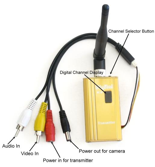 1500mW 1.2 GHz Audio Video Transmitter and Receiver