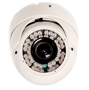 Outdoor Dome Camera with Infrared and Varifocal Lens