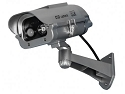 Solar Powered Dummy Security Camera with Strobe Light