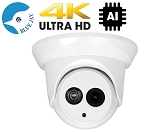 4K 8MP Infrared IP Dome With Wide Angle Lens - AI Functions