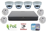 16 Channel NVR with 4 Infrared Dome Cameras