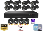 8 Channel Surveillance System with Black Bullet Cameras