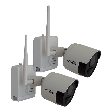 2 Pack Outdoor Wire Free Security Camera