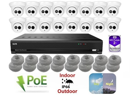 16 Channel 5MP IP Dome Camera Surveillance System
