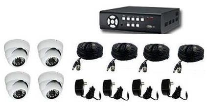 4 Channel Surveillance Kit with IR Dome Cameras