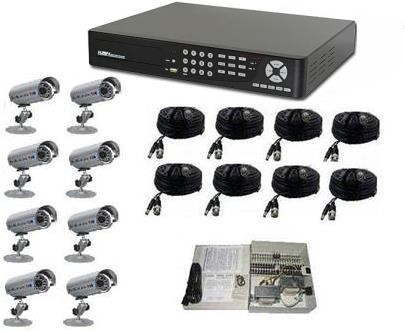 8 Channel DVR Package with 8 IR Cameras