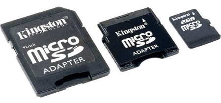 Kingston 2GB Micro SD Card with Adapters
