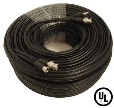 100 Feet Pre-Made RG59 Video and Power Cable