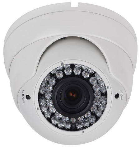 5MP Dome Camera with Varifocal Lens and 110 Ft. IR Illumination
